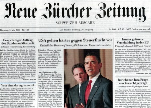 Front page NZZ