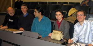 Kurt, Xavier, Carlos, Cristina and myself at the panel discussion on firm issues
