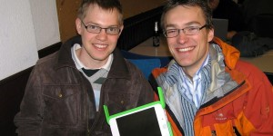Emanuel and I with the upcoming One-Laptop-Per-Child device