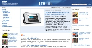Our Nokia article was at the ETH Life front page during an entire day!