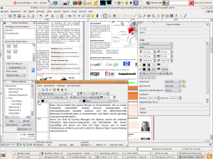 Screenshot of my Unbuntu Desktop with Scribus 1.3.4