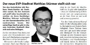 Interview im EVP Info Stadt Bern